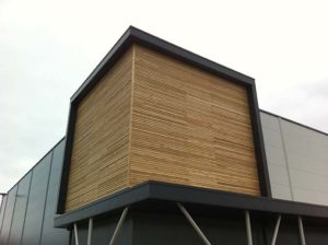 Timber rockpanel cladding