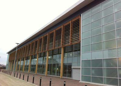 Roker Retail Park rainscreen timber cladding