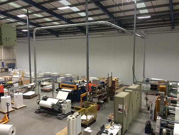 Ritrama Adhesives warehouse partition